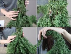 Tinker Christmas tree from fir branches - ideas with fresh fir green - Christmas - Diy Christmas Garland, How To Make Christmas Tree, Outdoor Christmas Decorations, Green Christmas, Xmas Tree, Christmas Time, Fir Tree, Diy Crafts To Do, Christmas Interiors