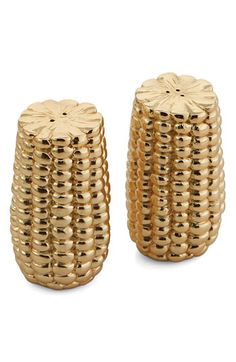 $99 Michael Aram Corn Salt & Pepper Shakers available at Nordstrom - just use them to display!