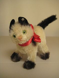 In my #ETSY Shop: #Steiff Vintage Gussy #Cat - Born between 1952 and 1969 – Pretty #Kitty!