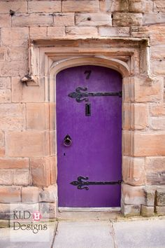 I LOVE this purple painted door! photography by kld-designs.com