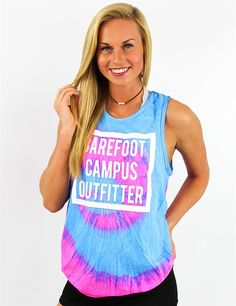 7d4fe792e234 This Barefoot Campus Outfitter tank it TIE-DYE for College Outfits