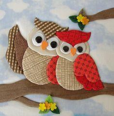 Applique Designs Free, Applique Embroidery Designs, Applique Patterns, Crazy Quilt Blocks, Patch Quilt, Owl Applique, Applique Quilts, Diy Crafts For Gifts, Hobbies And Crafts