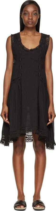 Isabel Marant Etoile - Black Voile Lace Sleeveless Dixie Dress