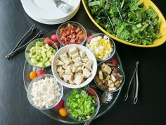 This Cobb Salad Bar is perfect for #WeekdaySupper fun with the family.