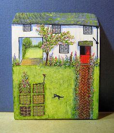 Garden Cottage by jamjarart on Etsy  by Joy Williams.