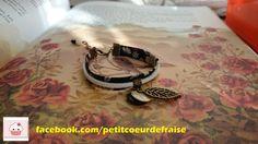 #bracelet #liberty #london #londres #feuille #bronze #perle #noir #blanc #fleur #weiss #blanco #negro #nero #black #schwarz #bianco #white #fleur #flower #fiore #flor #blume #beige