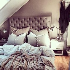 Bedrooms are the place for calm relaxing colours in my opinion, and therefore I would love these colors in my bedroom!