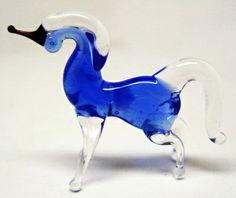 Unicorn Saint-Petersburg Art studio blowed glass figurine