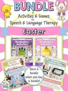 Grab all of your Easter speech therapy activities!