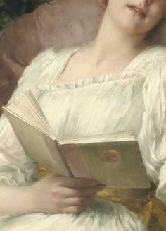 Day dreaming, detail.  by Conrad Kiesel (1846-1921)