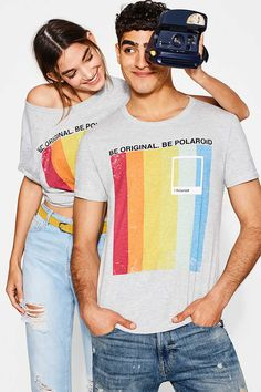 Esprit / Jersey T-shirt with a 3D polaroid print