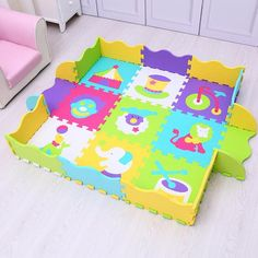 Puzzle Eva Foam Material Play Mat For Infant And Kid Jigsaw Pad Floor For Baby Games Indoor Mat Pattern Animal Puzzle Mat