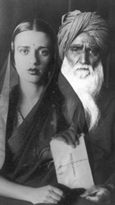 "Amrita Sher-Gil, the ""Frida Kahlo of India,""  & her dad, a Sikh. Mom was a Hungarian-Jewish opera singer. Amrita would be dead at 28."
