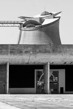 India_Chandigarh_13_bw by weyerdk, via Flickr | Punjab governmental complex, Chandigarh 1951-65    Architects:  Le Corbusier (Charles-Edouard Jeanneret),  Pierre Jeanneret,  Jacqueline Jeanneret  Maxwell Fry,  Jane Drew  et. al.