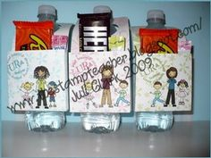 Cute idea! I did these with a protien bar, drink mix and lip balm. I think teachers must get tired of the same old thing every year!