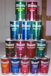 1970's Original Shasta Soda Pop Cans All 14 Flavors -- I want a pop, pop, pop... I want a Shasta!