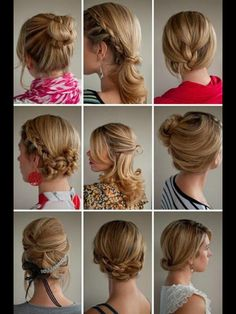 Beautiful updos for work!