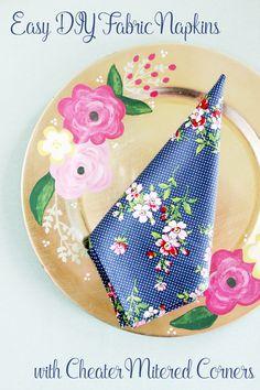 Easy DIY Fabric Napkins
