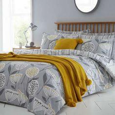 Emmott Grey Bed Linen Collection | Dunelm