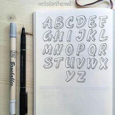 Likes, 10 Comments - Rita Hand Lettering Alphabet, Doodle Lettering, Creative Lettering, Typography Letters, Brush Lettering, Lettering Design, Calligraphy Doodles, Bullet Journal Ideas Pages, Bullet Journal Inspiration