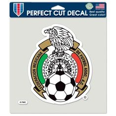 Mexican National Soccer Perfect Cut Clrd DECALS 8x8