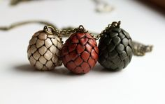 Dragon Eggs Game of Thrones #Necklace by Symbelmyne #Etsy