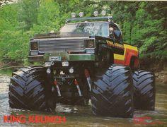 King Krunch square body Chevys make for mean looking monster trucks.