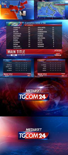 TgCom24 Channel Branding on Behance