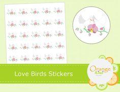 Items similar to Love Birds Wedding Stickers - Just Married Stickers - Wedding Favor Stickers - Envelope Seals on Etsy Love Birds Wedding, Wedding Stickers, Just Married, Seals, Wedding Favors, Envelope, Etsy, Wedding Keepsakes, Envelopes