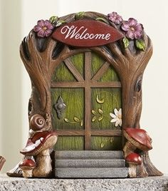 Welcome Resin Fairy Door  Price $22.99