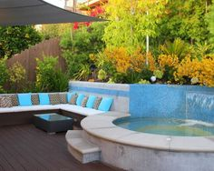 Contemporary Outdoor Patio Jacuzzi Decorating Style  Custom Ideas to Improving Your Patio Jacuzzi Decor