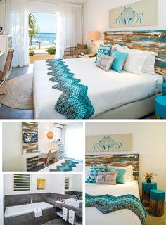 Hotel Bedroom Design, Home Decor Bedroom, Beach Inspired Bedroom, Comfy Bedroom, Beach Room, Living Room Grey, Beach House Decor, New Room, Decorating Your Home