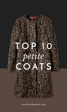 COOL COATS: THE PETITE COATS GUIDE The centrepiece of a petite's winter wardrobe, the humble coat gets a heck of a lot of wear in the colder season. Navigating this shopping task can be a minefield for petites; your outerwear needs to be practical yet stylish, comfortable yet cosy. We've done the hard work for you, tracking down the trendiest coats that work for your frame.  With our stylish guide you've got no excuse.:: Petite dresses, style tips, trends…— BombPetite.com