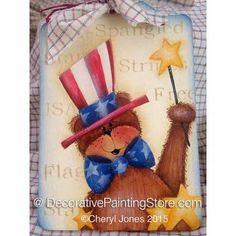 Star Spangled Teddy ePattern - Cheryl A Jones - PDF DOWNLOAD