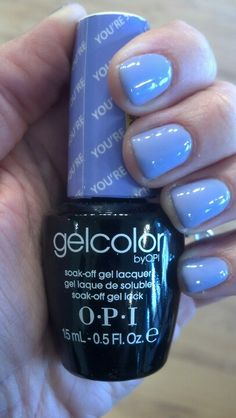 OPI Gelcolor: my favorite 2 week soak off gel to use on myself and my clients.  Pictured: New OPI Gelcolor You're such a Budapest.