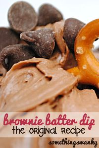 Brownie Batter Dip - Delicious!!  Had at Super Bowl party with strawberries, vanilla wafers, pretzel sticks, and marshmallows. Yummy!!!