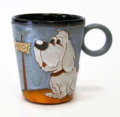 Funny Mug Dog  pottery mug clay mug ceramic mug by MMceramicdesign - $25.00