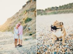 engagement photos with dog dorset engagement photos photography wedding dorset