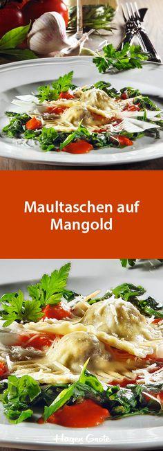 Maultaschen auf Mangold