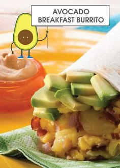 This Ham, Cheese, Egg & Avocado Breakfast Burrito with Chipotle Crema is quick and easy to make for an on-the-go meal. The added kick from the adobo sauce provides tons of flavor and a touch of heat. #fanwich