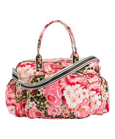 Look what I found on #zulily! Pink Jungle Floral Diaper Bag #zulilyfinds