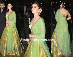alia bhatt green lehenga manuish malhotra diwali party 2017 photo Call/ WhatsApp for Purchase inqury : Banarasi Lehenga, Green Lehenga, Indian Lehenga, Patiala Salwar, Anarkali, Bollywood Lehenga, Bollywood Fashion, Alia Bhatt Lehenga, Manish Malhotra Lehenga