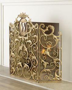 Shop decorative fireplace screens and tools at Neiman Marcus. Have everything ready for a cozy night in with these fireplace utilities and screens. Craftsman Fireplace, Fireplace Built Ins, Victorian Fireplace, Faux Fireplace, Marble Fireplaces, Fireplace Remodel, Modern Fireplace, Fireplace Design, Fireplace Mantels