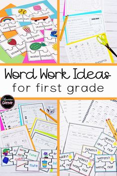 Looking for differentiated phonics word work or spelling literacy centers for your first or 2nd grade classroom? These activity ideas are easy to set up and will meet the needs of ALL your students! Great for independent work or to project on your Smartboard