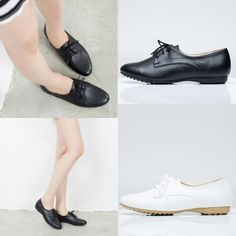 Basic Lace Up Flat Oxfords | Danischoice.com
