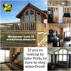 A waterfront cabin is the place to be on Lake Fork!  www.PopesLanding.com