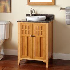 """24"""" Betong Bamboo Vanity for Semi-Recessed Sink"""