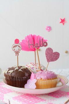 Como hacer toppers para decorar cupcakes