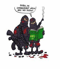 #CharlieHebdo: Même message contre les terroristes et avec le respect à la culture musulman en plus... Pourtant pas compliqué de respecter la liberté d'expression et les cultures différentes des nôtres.  Notre combat est le même, TOUS CONTRE LE TERRORISME !!!!