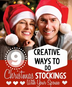 Cute ideas - Exchanging Christmas Stockings with your Spouse can turn into one of the most memorable moments of the year! Use these creative ideas to make your stocking exchange fun, meaningful and something to look forward to every year